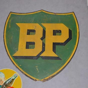 BP wood sign - Petroliana