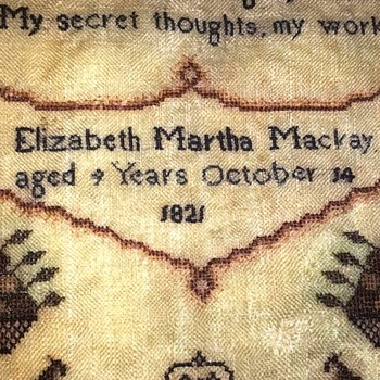 Elizabeth Martha Mackay 1821 - Sewing