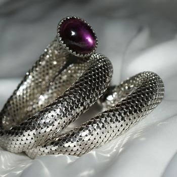 Vintage Snake-Like Wraparound Bracelet - Costume Jewelry