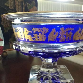 Val Saint Lambert Bowl Borodine Danse De Flore Clear 93185 - Glassware