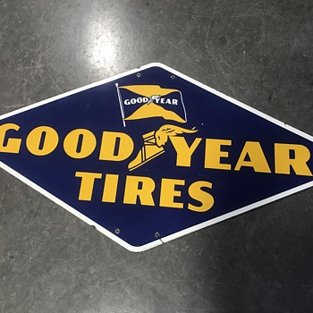 Good year tire sign 3ft  - Petroliana