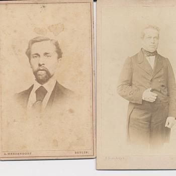European 19th century CDVs - Photographs