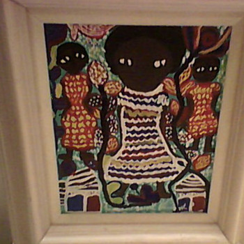 "LOUIS "" ONE JOINT"" BLEUSANT FOLK ART PAINTING  - Folk Art"