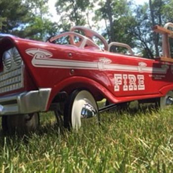 My 63-64 restored Murray FireTruck - Firefighting