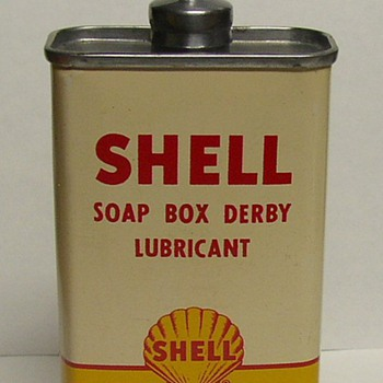 Shell Soap Box Derby Household Oil Pocket Can  - Advertising
