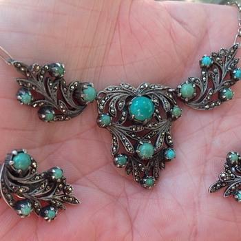 Bernard Instone necklace and earrings