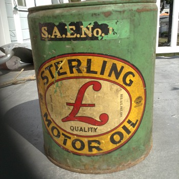 5 Gallon Sterling Motor Oil  - Petroliana