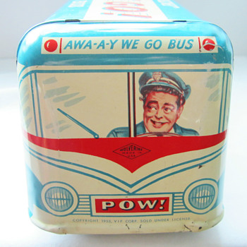 The honeymooners tin toy  bus from 1955 - Toys