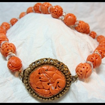 Antique Chinese Coral Necklace - Fine Jewelry