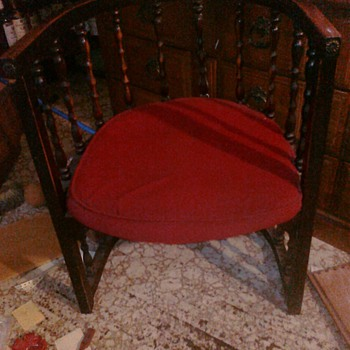 Here is another very interesting piece. Barrel Chair we have no Idea.  - Furniture