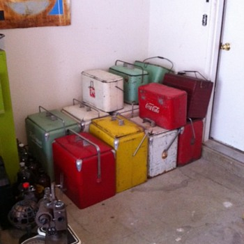 Stack of Picnic Coolers