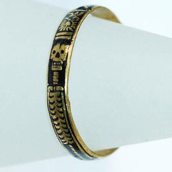 Skeletal Memento Mori Band Circa 1720 - Fine Jewelry