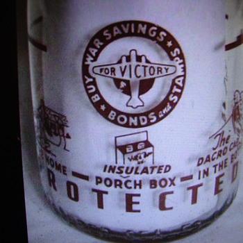 Village Farm Dairy (Toledo Ohio) War Slogan Quart Milk Bottle....... - Bottles