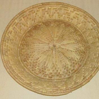 Native Indian round basket