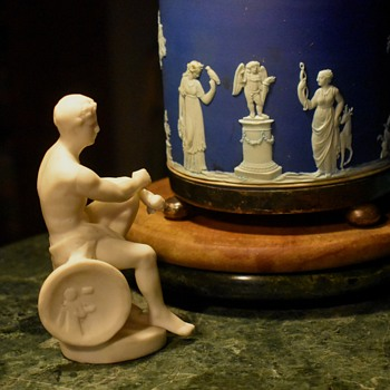 Parian Ware? Statue of Warrior? - Pottery