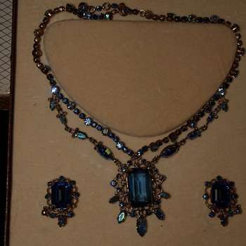 N. Sedlmayer & Co Austrian Crystal Necklace and Earrings - Costume Jewelry