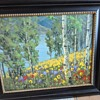 """Beautiful Oil Painting Signed by Unknown Artist named """"Lily Pond Trees"""""""