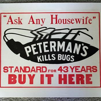 Original Peterman's Roach Food Ad ca. 1912 - Advertising