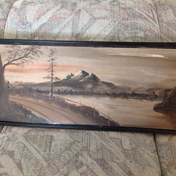 Mount Hood painting C. Jensen antique? - Fine Art