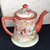 Old Asian hand painted tea pot
