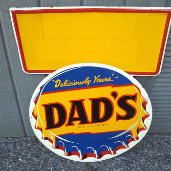 Dad's Root Beer Tin Sign