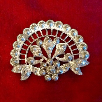 Old white Metal Brooch