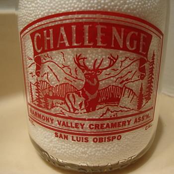 HARMONY VALLEY CREAMERY ASS'N...SAN LUIS OBISPO, CALIFORNIA   - Bottles