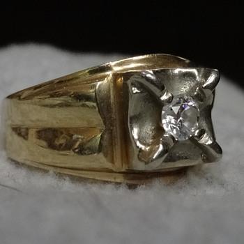 Vintage men's diamond ring - Fine Jewelry