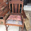 Yard Sale Project Piece Antique Arm Chair - Question