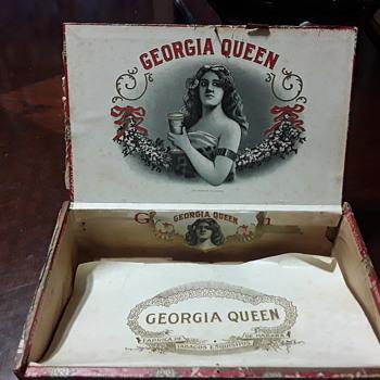 Georgia Queen Cigar  Box  early 1900's - Tobacciana