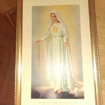 """My immaculate heart will triumph"" framed print - Fine Art"