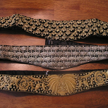 Grandmas Ornate dress belts, gold and silver  - Accessories