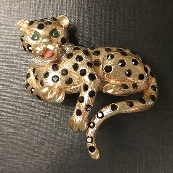 Panetta leopard brooch  - Animals