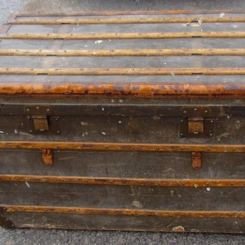 "1890's + 39 1/2"" Malle Moynat French Trunk - Furniture"