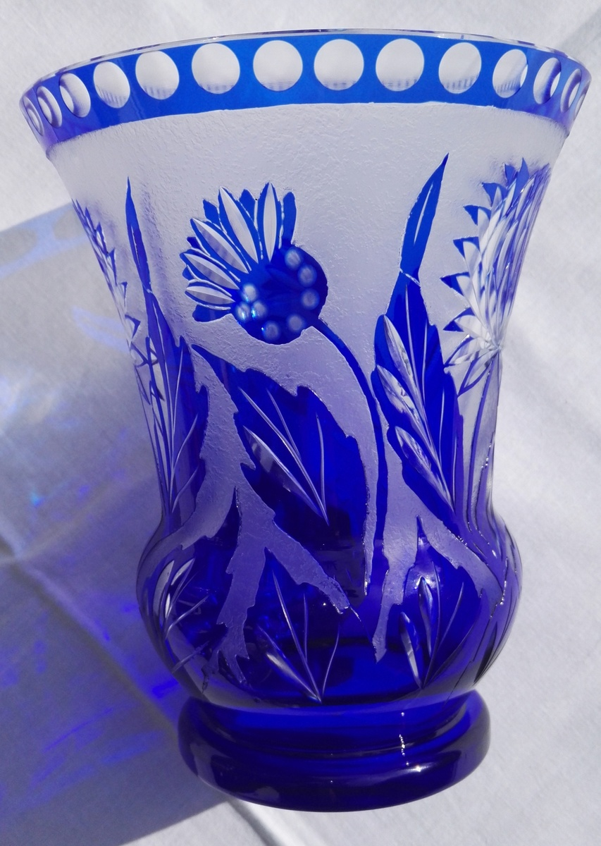 stories pair ocfpig weekly vases collectors vase cut blue glass kralik of