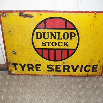 Donlop Enamel Sign