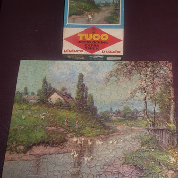1950's Tuco Extra Thick Blossom Time Puzzle approx 300 pieces - Games