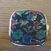 Elg-Art vintage travel jeweled alarm clock