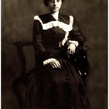 My Great Grandmother in one arm chair late 1800's for AnnaB  - Photographs