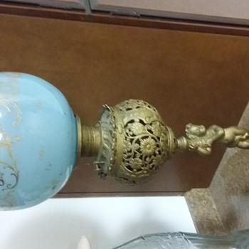Victorian cherub lamp