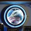 Harley-Davidson...Neon Clock...Patriotic