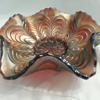 Carnival Glass Candy Dish Bowl - Glassware