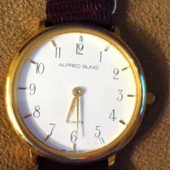 West German Mov't on face of watch - Wristwatches