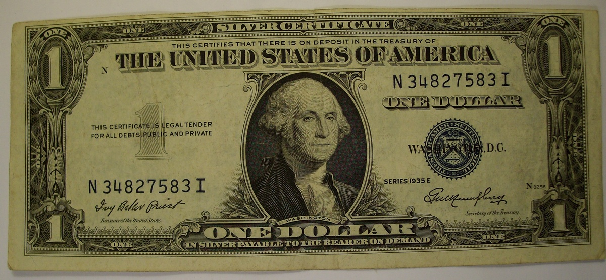 100 Blue Seal Silver Certificates Dating 1935 1957 Collectors