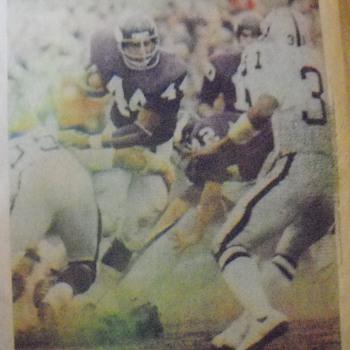 Chuck Foreman, Fran Tarkenton, Jim Lash, John Gilliam and Bud Grant photos from a 1973 edition of the Minneapolis Tribune
