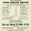 Important Malcolm X Civil Rights Broadside / Handbill for the New York City Rally, Harlem Square, 1963