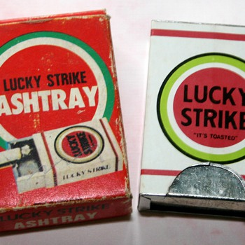 Vintage Lucky Strike Cigarettes Advertising Pocket/Dashboard Ashtray  - Advertising