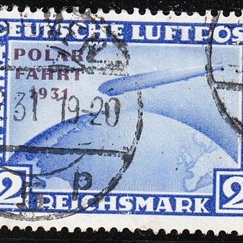 Zeppelin Polarfahrt 1931 2 RM blue