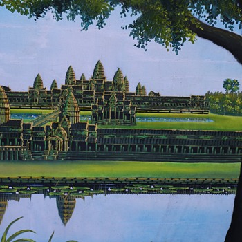 Enormous Painting of Angkor Wat - Fine Art