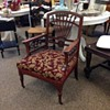 Spindle back wooden chair